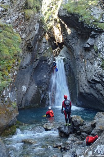 canyoning stage, stage canyon, cours de canyoning