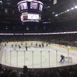 Our seats at the Hitmen Game