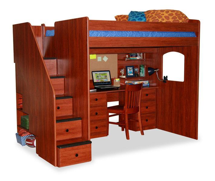 Berg Furniture Utica Loft Utica Loft Full Size Loft With 5