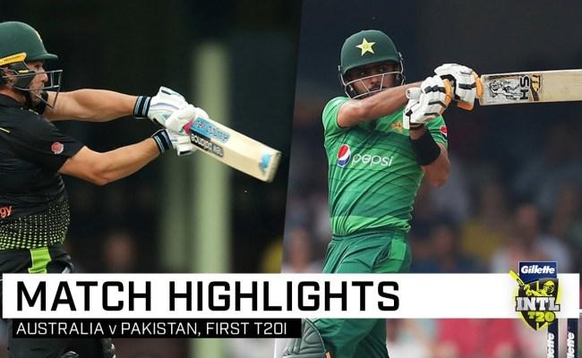 Pakistan Vs Australia 1st T20 Highlights Nov 03 2019 Cricketnlive