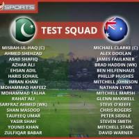 Pakistan vs Australia Test Squads Announced