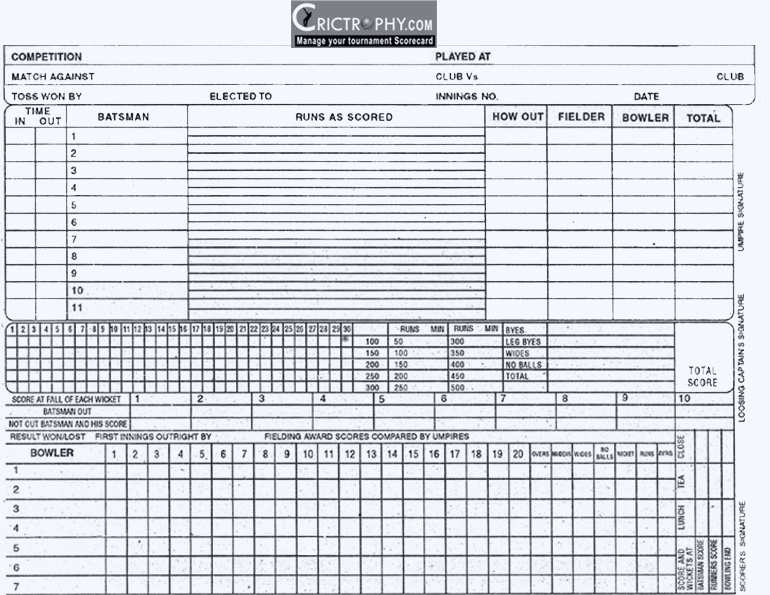 Bowling Score Sheet Sample Cricket Score Sheet Standard Cricket - sample cricket score sheet