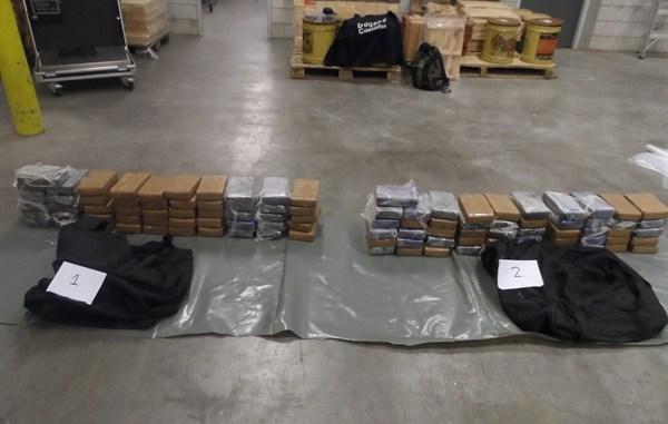 120 kilo cocaine ecuador, cocaine ecuador cacao, drugsvangst bedreigingen