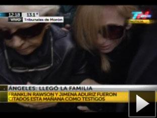 La mamá de Angeles declaró como testigo.
