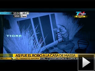 La imagen de video que captó el robo.