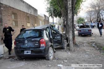 El tiroteo fue entre dos vehículos.