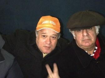 Telleldín y Samid fueron espectadored del partido de Scioli.