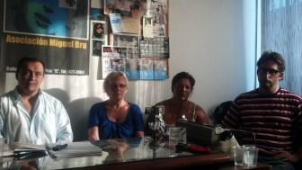 La conferencia de prensa en la que se denunció el caso.
