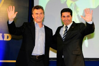 Macri y Angelicia, unidos en Boca y el PRO.