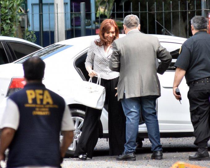 Cristina en Comodoro Py.