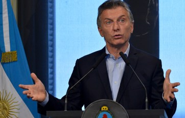 Macri en la conferencia de prensa de hoy.