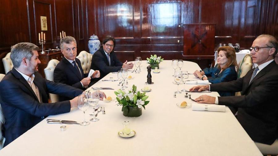 El almuerzo en la Casa Rosada.