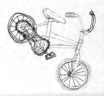 bicicleta din hartie