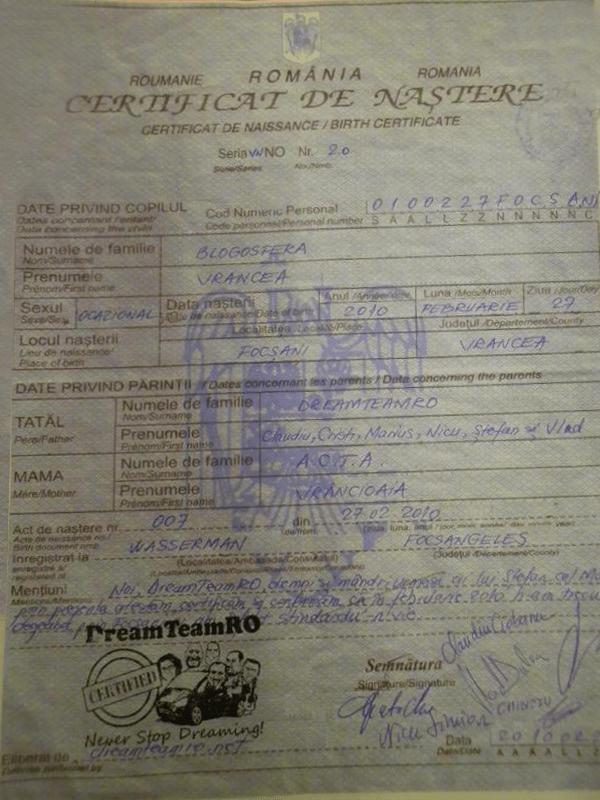 certificat de nastere blogosfera vrancea