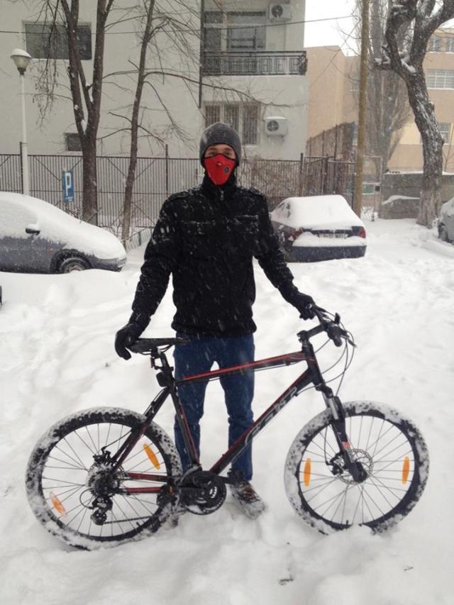cristian florea - bicicleta iarna