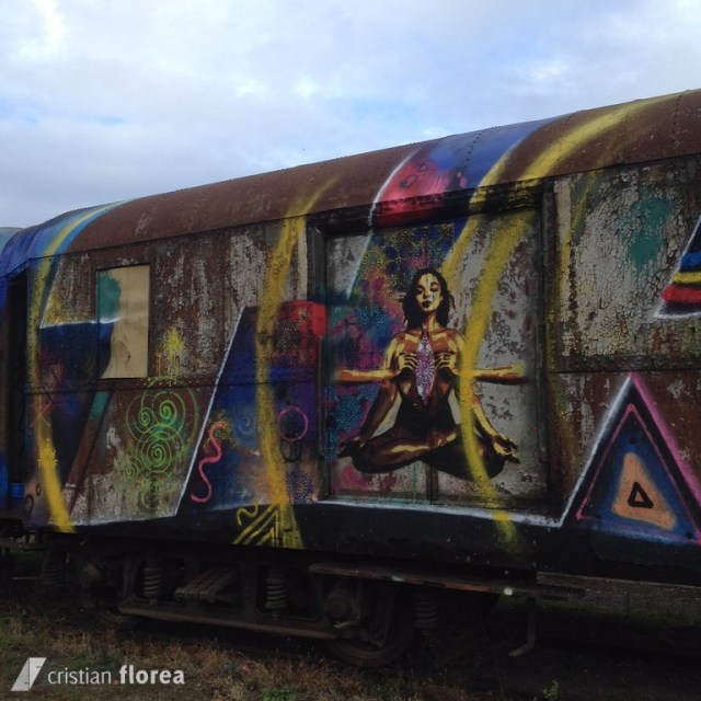 trenul cu graffiti din Cluj 2