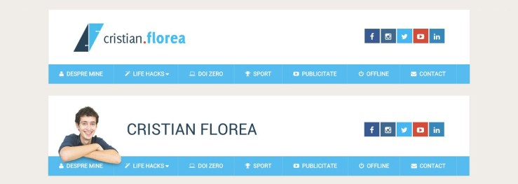 cristian florea header - before and after