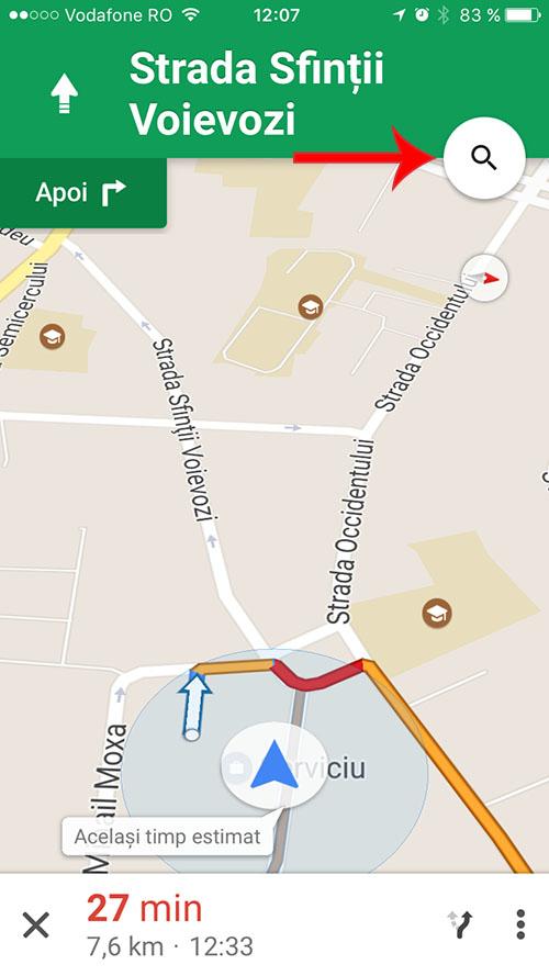 google maps pentru iPhone - pit-stop 1
