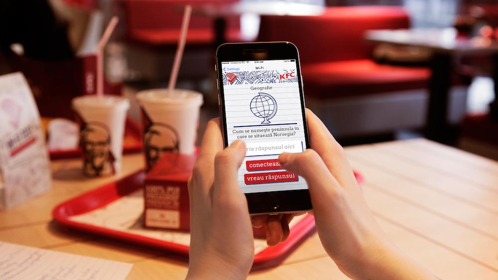 La KFC te poți conecta la wireless numai dacă știi câte ceva din materia de BAC