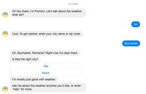 meteo - facebook messenger