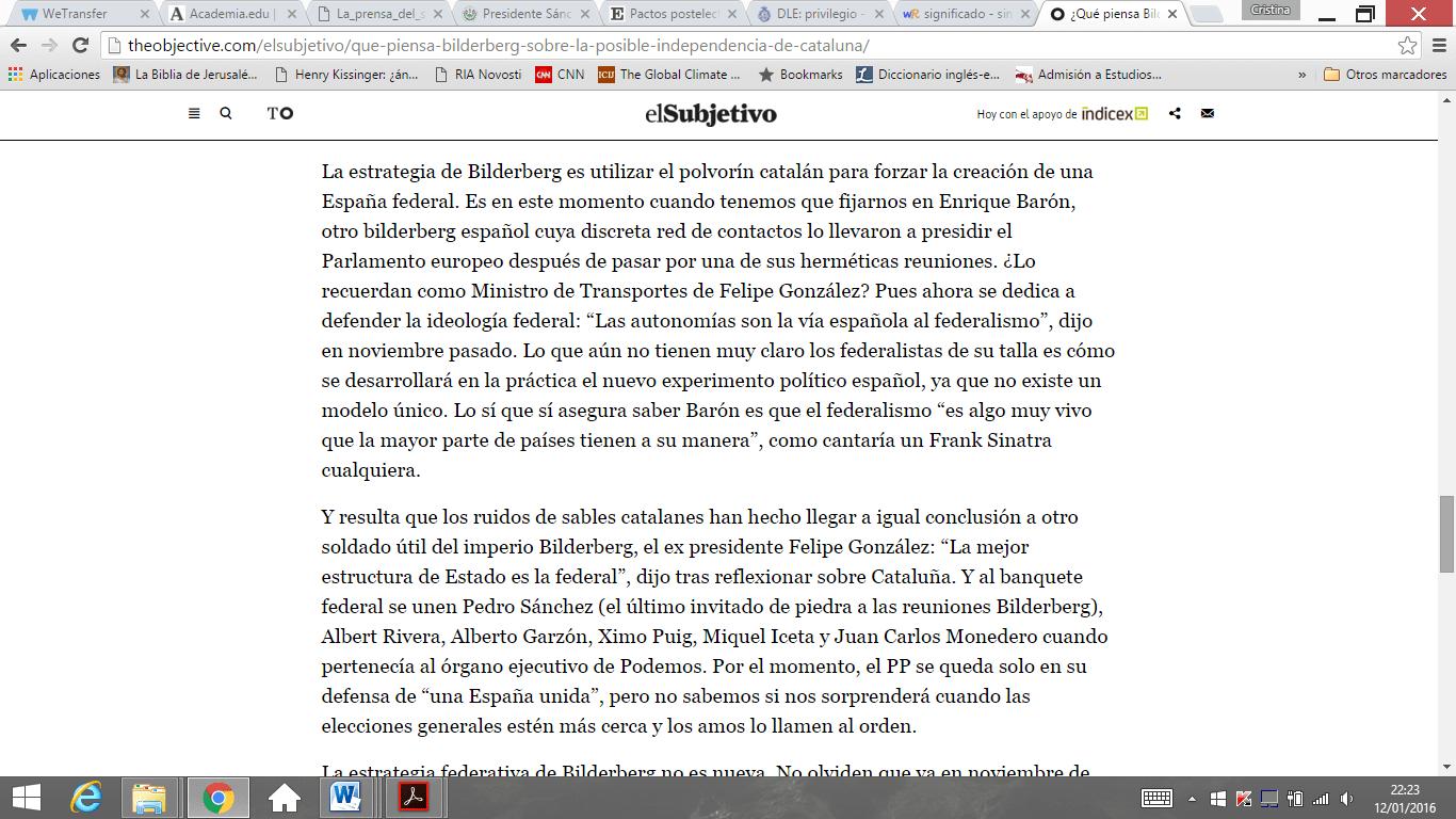 La inminente hoja de ruta de Bilderberg para España - Cristina ...
