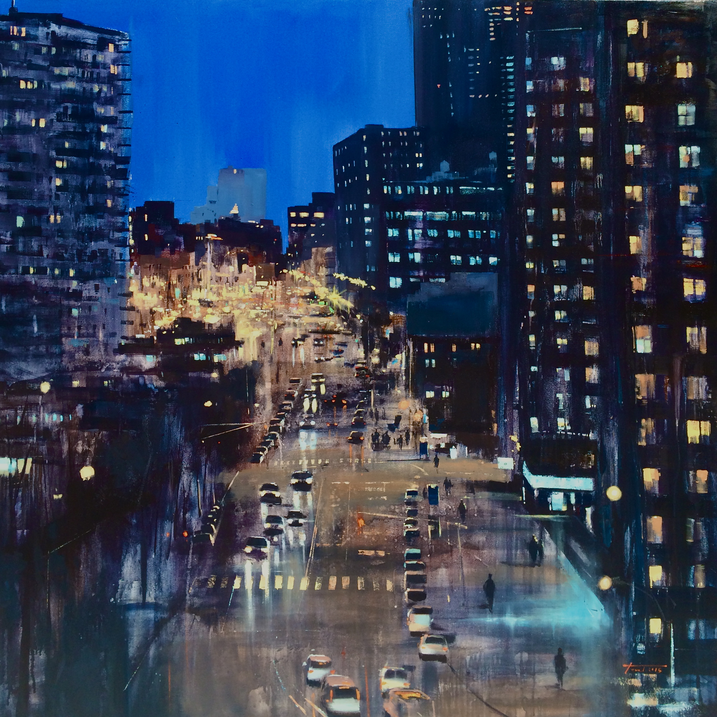 From High Line Park. Óleo sobre lienzo. 130x130cm.
