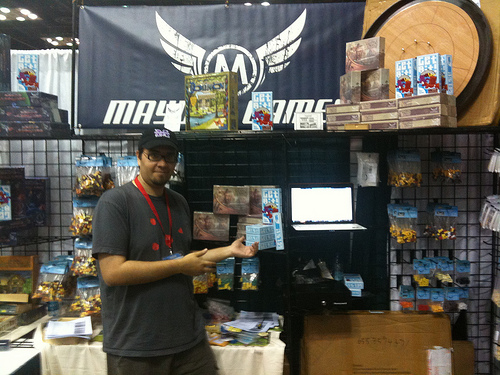 Dave at Mayday Games with Get Bit!