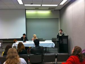 The Womanthology panel
