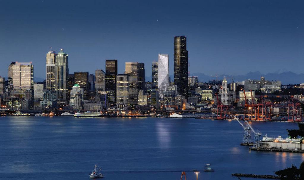 Seattle Washington Fall Skyline Wallpaper Skyscraper Critical Design