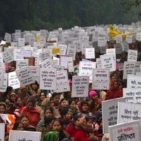 Indian women mourning gang rape victim, New Delhi, 2 Jan 2013, Photo by Dar Yasin | AP