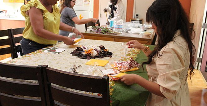 Crittenton Staff are hard at work preparing for the annual Thanksgiving Celebration.