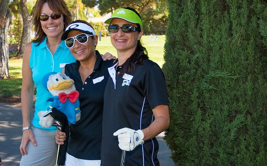 Golfers at Crittenton's Charity Golf Tournament