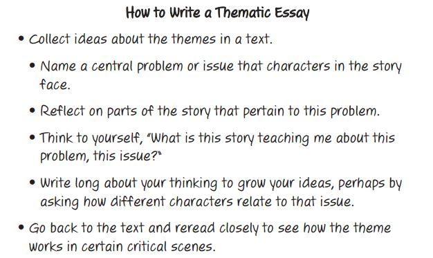 Thematic Essay - 8th Grade LA