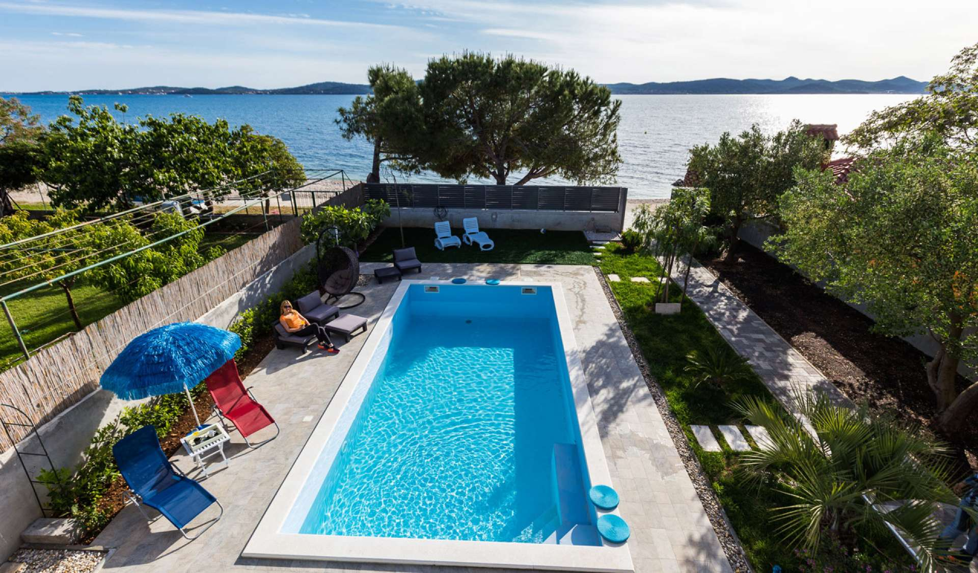 Ferienwohnung Mit Pool Kroatien Appartment Bibinje Croatia Adriatic Marine