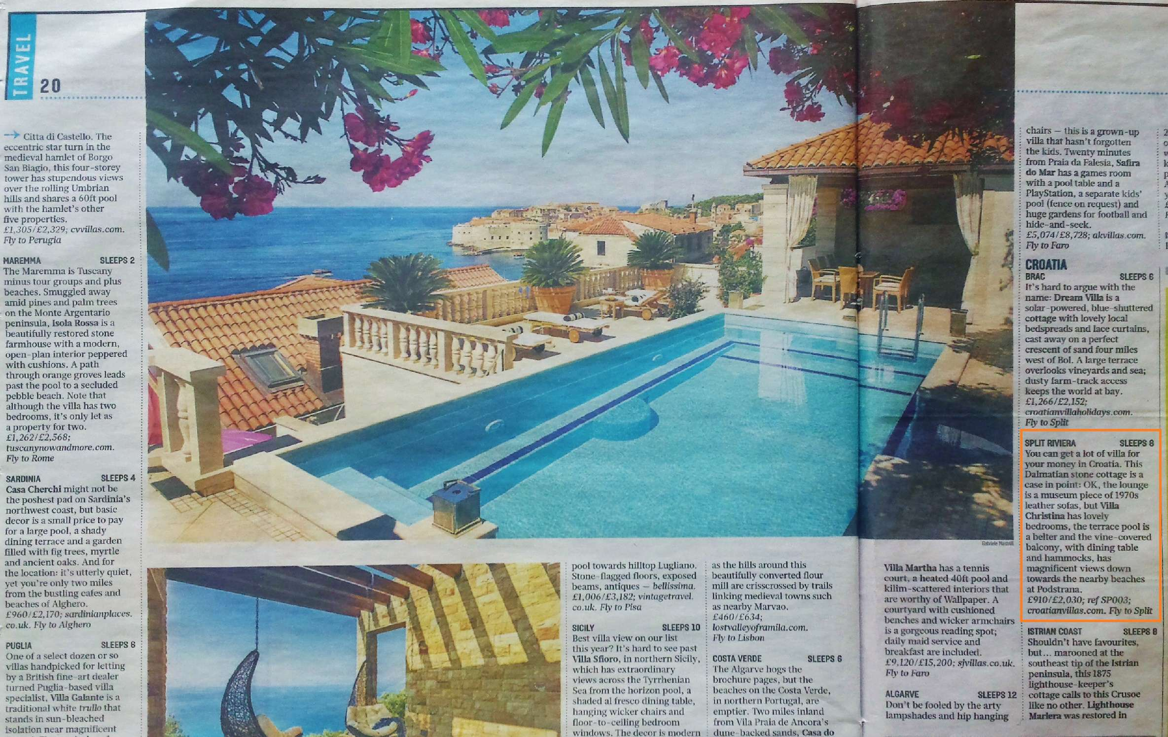 Holidays Villas Authentic Villa Holidays Croatian Villas As Featured In The Press