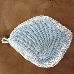 angel wings crochet potholder