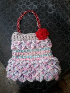 crochet crocodile stitch purse