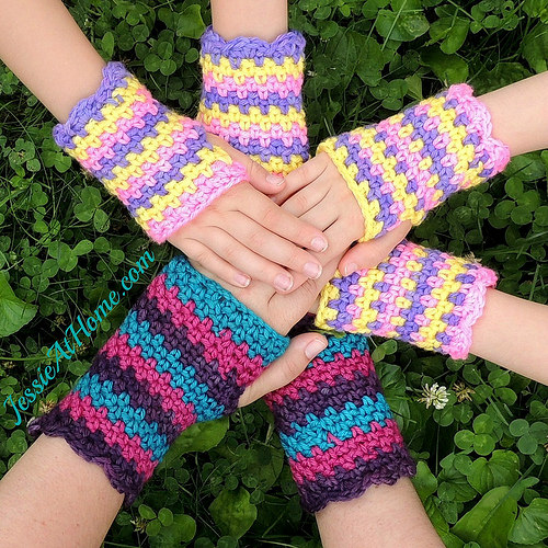 Free Crochet Pattern Childrens Fingerless Gloves : Free Pattern ? Rock Star Fingerless Gloves ? Crochet