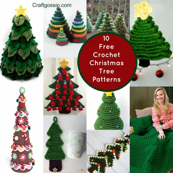Free Crochet Patterns For Xmas Trees : 10 Christmas Tree Crochet Projects You Have To Try - Crochet