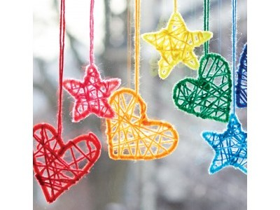Hearts & Stars Hanging Dream Catchers