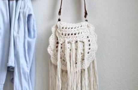 Free Pattern – Boho Tassel Crochet Bag
