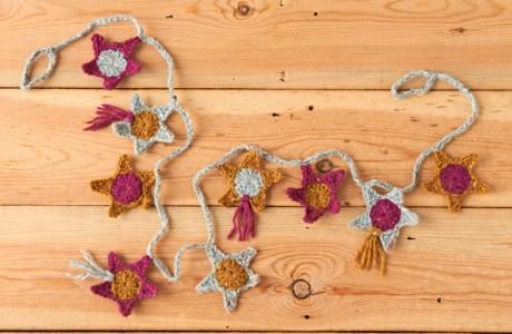 Crochet Stars Garland