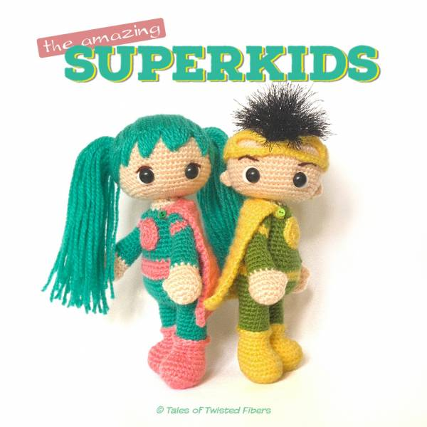 Free Amigurumi Superhero Patterns : Free Pattern Amazing Super Kids Crochet