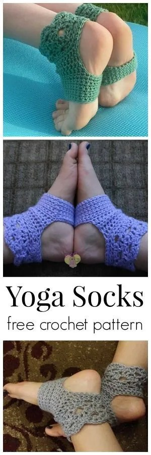 Easy Knitting Pattern For Yoga Socks : Free Pattern   Yoga Socks   Crochet