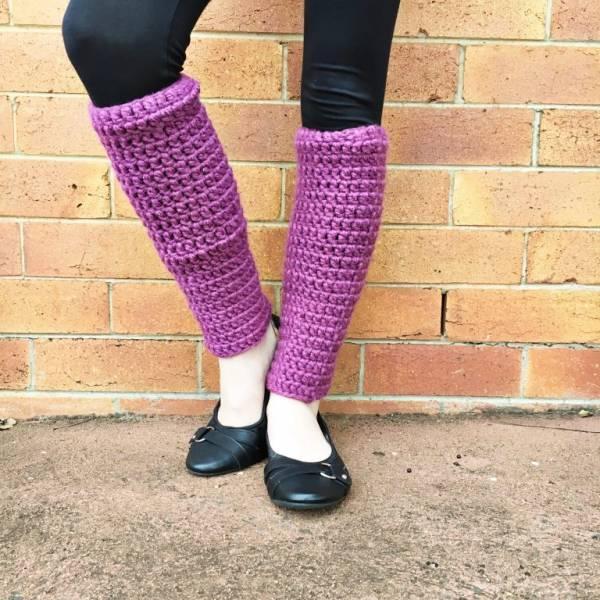 Easy-Crochet-Leg-Warmers-Pink-768x768