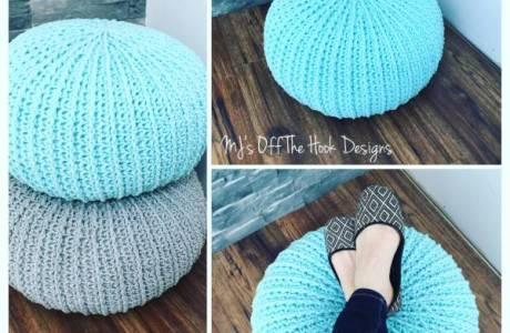 Free Crochet Pattern – Floor Pouf