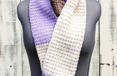 Free Pattern – Lilac Frosting Scarf