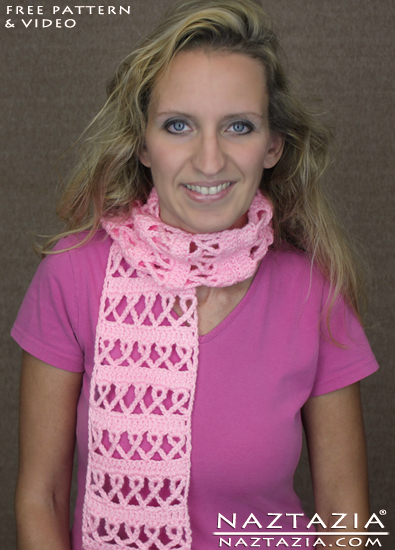 Free Crochet Pattern For Breast Cancer Awareness Scarf : Crafts, Patterns, DIY and Handmade Ideas from CraftGossip