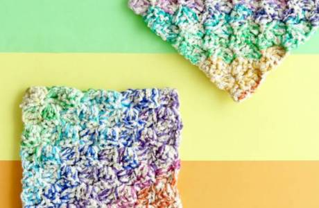 Dish Cloth Pattern – Rainbows