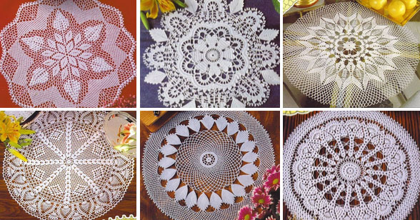 Babies Toys Videos 6 Beautiful Round Lace Doily Patterns ⋆ Crochet Kingdom